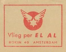 Meter Cover Netherlands 1958 EL AL - Israel Airlines - Aerei
