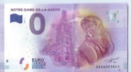 2016 BILLET TOURISTIQUE 0 Euro   Marseille Notre -dame -de- La -garde   Dpt 13    Port 1.20 - EURO