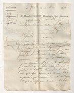 LETTRE 1814 DU CHEVALIER BURDIN COMMISSAIRE DES GUERRES  ARIEGE (10eme DIVISION  )  A HOSPICE DE MIREPOIX AR112 - Documents Historiques