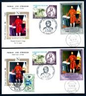 LOT 2 FDC NAPOLÉON 1er- YEMEN- TIMBRE DENTELÉ + NON DENDENTELÉ- CAD SANA'A  DU 16-9-69 + TIMBRES FRANCE- CAD AJACCIO - Napoleone