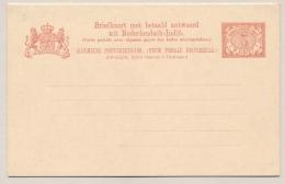 Nederlands Indië - 1907 - 5+5 Cent Cijfer Vürtheim, Briefkaart G15, Ongebruikt  - H&G 16 - Nederlands-Indië