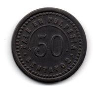 JM INTROUVABLE INEDIT MONNAIE JETON DES MINES DU CHILI 50 Centavos F.B. - Monetari / Di Necessità