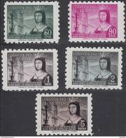 Ecuador Aereo 253/257 ** Isabel. 1954 - Ecuador