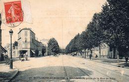 CPA    -    BOULOGNE SUR SEINE    -    GRANDE RUE PRISE DE LA RUE DE SILLY - Boulogne Billancourt