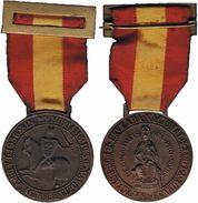 ESPAÑA. FRANCO. GUERRA CIVIL. MEDALLA EX-COMBATIENTES DE VIZCAYA. ESPAGNE. SPAIN MEDAL - Royal/Of Nobility