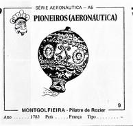 BUBBLE GUM / CHEWING GUM: GORILA - AERONAUTICAL SERIES / (1) PIONEERS - 009 MONTGOLFIEIRA / PILATRE DE ROZIER - Vieux Papiers