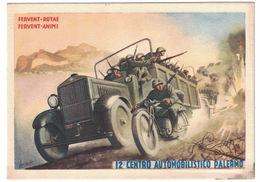CARTOLINA PUBBLICITARIA  12 CENTRO AUTOMOBILISTICO PALERMO   Illustratore BOCCASILE GINO - Publicidad