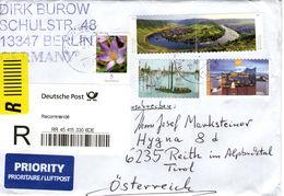 Auslands - Reko -Brief Von 13353 Berlin - Wedding Mit 400 Cent Mischfrankatur 2017 - BRD