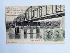 C.P.A. COSTA RICA : Matina Bridge, 4 Sellos 1906 - Costa Rica