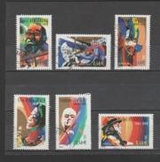 FRANCE / 2002 / Y&T N° 3500/3505 : Interprètes De Jazz (6 TP De Feuille Avec PHO) - Tous Cachet Rond - France