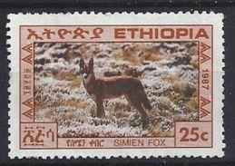 Ethiopia 1987  Simien Fox 25c (o) - Ethiopia