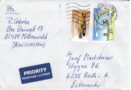 Auslands - Brief Von Briefzentrum 62 Mit 160 Cent Mischfrankatur 2017 - BRD