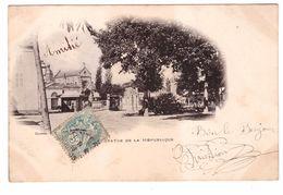 03 Cusset Statue De La Republique Tram Tramway Edit Doniol Cachet 1905 - Autres Communes