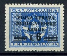 Yougoslavie Occupation 1947 Sass. 72 Neuf * 100% Vojna Uprava - Occ. Yougoslave: Istria