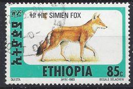 """Ethiopia 1994  Simien Fox  85c (o) """"Dated 1993"""" - Ethiopia"""