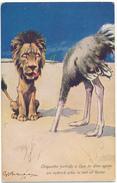 Fritz SCHOENPFLUG - Le Lion Et L'Autruche - Schoenpflug, Fritz