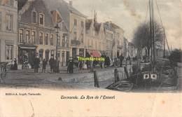CPA DENDERMONDE TERMONDE LA  RUE DE L'ESCAUT - Dendermonde