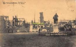 CPA DENDERMONDE TERMONDE RUINES MARCHE AU LIN - Dendermonde