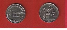 Italie  -  Lira Lires 1922  --  Km # 57  --  état  TTB+ - 1861-1946 : Kingdom