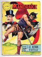 Mandrake Mondes Mystérieux N°38 Le Retour D'Attila De 1964 - Mandrake