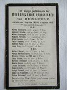 DOODSPRENTJE DUDZELE 1921 - 1922 OA BERTHA DOBBELAERE - Religion & Esotérisme