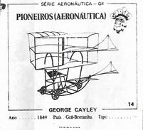 BUBBLE GUM / CHEWING GUM: GORILA - AERONAUTICAL SERIES / (1) PIONEERS - 014 GEORGE CATLEY - Vieux Papiers