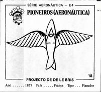 BUBBLE GUM / CHEWING GUM: GORILA - AERONAUTICAL SERIES / (1) PIONEERS - 018 DE LE BRIS PROJECT - Vieux Papiers