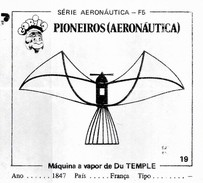 BUBBLE GUM / CHEWING GUM: GORILA - AERONAUTICAL SERIES / (1) PIONEERS - 019  DU TEMPLE' STEAM MACHINE - Vieux Papiers