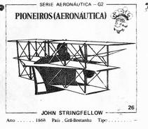 BUBBLE GUM / CHEWING GUM: GORILA - AERONAUTICAL SERIES / (1) PIONEERS - 026 JOHN STRINGFELLOW - Vieux Papiers