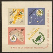 Burundi 1965 OCBn° Bloc 9A ND Ongetand *** MNH Cote 4,00 Euro - Burundi
