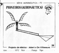 BUBBLE GUM / CHEWING GUM: GORILA - AERONAUTICAL SERIES / (1) PIONEERS - 028 JOBERT & DE VILLENEUVE (ELASTIC PROJECT) - Vieux Papiers