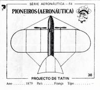 BUBBLE GUM / CHEWING GUM: GORILA - AERONAUTICAL SERIES / (1) PIONEERS - 038 TATIN'S PROJECT - Vieux Papiers