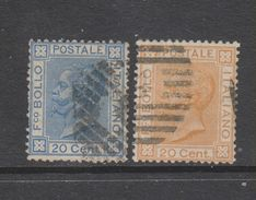 Yvert 23 / 24 Oblitéré - 1861-78 Vittorio Emanuele II