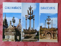 Dep 29 , Cpm   CALVAIRES BRETONS , MX 3414 , Guimiliau , St Thégonnec , Plougastel Daoulas , Multivues  (01.357) - Sin Clasificación