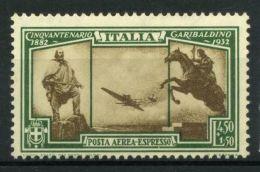 Italie Royaume 1932 Sass. A38 Neuf ** 100% Air Express Garibaldi - 1900-44 Victor Emmanuel III