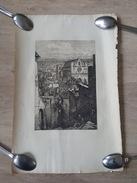 Gravure Ancienne Sur Papier Vergée - Paris? Montmartre? Eglise - Estampes & Gravures