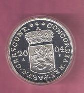 NEDERLAND DUKAAT 2004 SILVER PROOF PROVINCIE ZEELAND - SPOTS ONLY ON CAPSEL - [ 8] Monnaies D'or Et D'argent