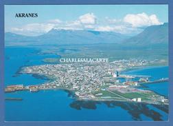 1984? ICELAND MODERN POSTCARD AERIAL VIEW OF AKRANES ICELAND UNUSED - Iceland