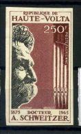 Burkina Faso 1967 Mi. 218 Neuf ** 100% Non Dentelé Albert Schweitzer - Burkina Faso (1984-...)