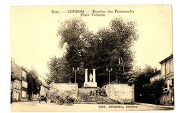 CPA 32 Gers Condom Escalier Des Promenades Place Voltaire Animé Charettes - Condom