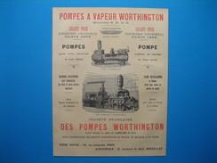 (1899) Pompes à Vapeur WORTHINGTON - Vieux Papiers