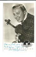 Helmut Zacharias - Carte Postale Originale SIGNEE - Autographs