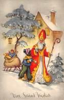 CPA  SAINT ST NICOLAS SINT NIKOLAAS SINTERKLAAS SANTA CLAUS PERE NOEL JEUX JOUET POUPEE DOLL  COLOPRINT - Santa Claus
