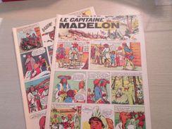 2 FEUILLES 4 PAGES / Genre Belles Histoires De L'Oncle Paul : LE CAPITAINE MADELON Récit Historique Et édifiant -  Docum - Otros Objetos De Cómics