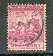 BARBADE (GB) - SOUVERAIN - N° Yvert 51 Obli. - Barbados (...-1966)