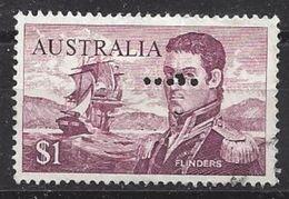 Australia 1966 $1 (o) Perfin  F ?? - Perfins