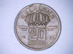BELGIQUE : 20 CENTIMES 1953 - 01. 20 Centimes