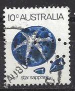 Australia 1973 10c (o) Perfin  VG - Perforés