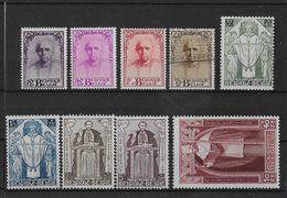 BELGIQUE - 1932 - CARDINAL MERCIER COB N° 342/350 **/* MNH/MH (CHARNIERE Sur PETITES VALEURS + 344 O) - COTE = 1300 EURO - Belgique