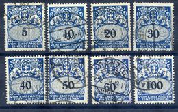 DANZIG 1923 Postage Due Set Of 8 Used.  Michel Porto 30-37 - Danzig